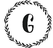 Monogram Wreath - G Photographic Print
