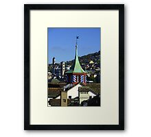 Colourful steeple Framed Print