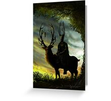 Stag Lord Greeting Card