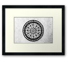 Iron Lotus Compass Framed Print