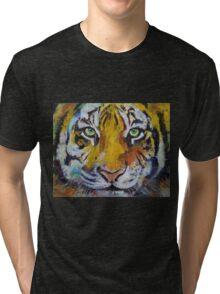 Tiger Psy Trance Tri-blend T-Shirt