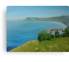 By the sea - North Yorkshire Canvas Print