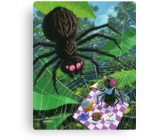 spider web picnic Canvas Print