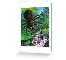 spider web picnic Greeting Card