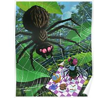 spider web picnic Poster