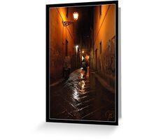 'Notte, Borgo La Noce, San Lorenzo Greeting Card
