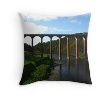 Leaderfoot Viaduct Near Melrose, Borders, Scotland Throw Pillow