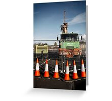 The notorious  traffic cones Greeting Card