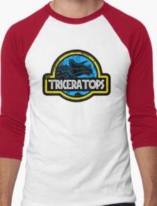 Jurassic Power Blue Men's Baseball ¾ T-Shirt