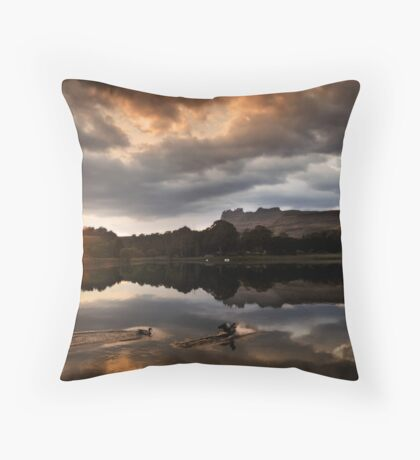 Dawn landing Throw Pillow