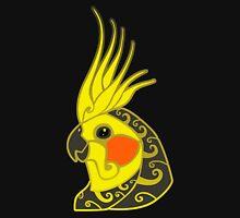 Cockatiel parrot tribal tattoo T-Shirt