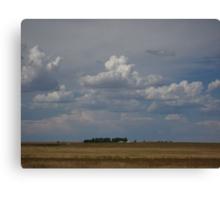 Cloudy Nebraska Landscape Canvas Print