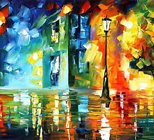 BLUE FREEZE - original art oil painting by Leonid Afremov by Leonid  Afremov