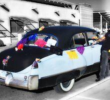 He Rides in His Old Cadillac - Dia de Los Muertos  by TWindDancer