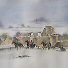 Winter Ride, Middleham Castle, N Yorkshire by artbyrachel