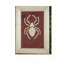 arial view,brown spider Art Print