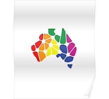 Equal Marriage Rights Australia (Rainbow Australia Logo) Poster