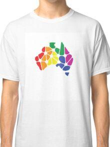 Equal Marriage Rights Australia (Rainbow Australia Logo) Classic T-Shirt