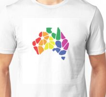 Equal Marriage Rights Australia (Rainbow Australia Logo) Unisex T-Shirt