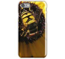 Hoverfly on Blackeyed Susan Macro iPhone Case/Skin