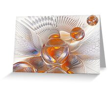 Espiral Wing Orbs Greeting Card