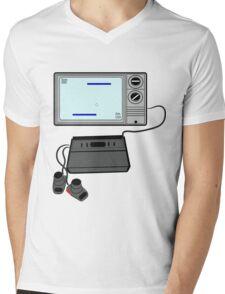 Pong TV Mens V-Neck T-Shirt