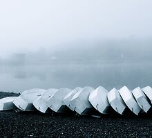 Eleven Dinghies - Ardingly by Matthew Floyd