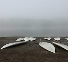 Beached Windsurf Boards - Ardingly by Matthew Floyd