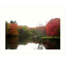 Windsor Autumn Reflection on Loomis Campus Art Print