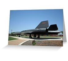 SR-71A Blackbird Greeting Card