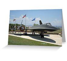 SR-71A Blackbird Greeting Card