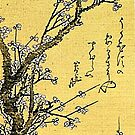 'Flowering Plum' by Katsushika Hokusai (Reproduction) by Roz Abellera Art Gallery