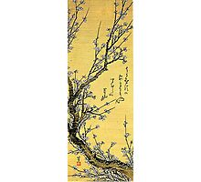 'Flowering Plum' by Katsushika Hokusai (Reproduction) Photographic Print