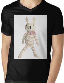 Knitted Character Mens V-Neck T-Shirt