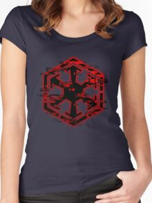 Glitched Sith Symbol Women's Fitted Scoop T-Shirt