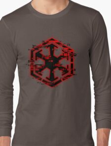 Glitched Sith Symbol Long Sleeve T-Shirt