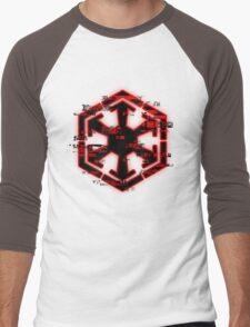 Glitched Sith Symbol Men's Baseball ¾ T-Shirt