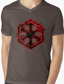 Glitched Sith Symbol Mens V-Neck T-Shirt