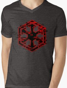 Glitched Sith Symbol Mens V-Neck T-Shirt