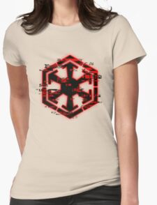Glitched Sith Symbol Womens Fitted T-Shirt