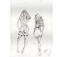 illustration fashion Poster