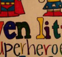Even Little Superheroes wash their hands Sticker