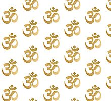 Gold and white om sign by AnnaGo