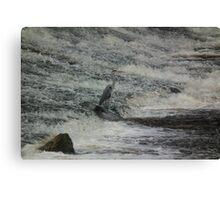 Heron Earth Canvas Print