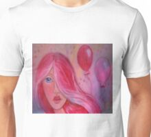 Whimsy Girl with Red Hair Unisex T-Shirt