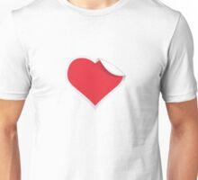 Creative Paper Heart Unisex T-Shirt