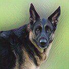German Shepherd by Sandy Keeton