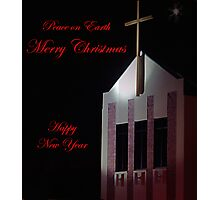 Church Christmas Card Photographic Print