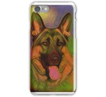 Colorful German Shepherd iPhone Case/Skin