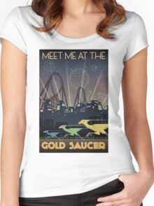 Final Fantasy VII Gold Saucer Travel Poster Women's Fitted Scoop T-Shirt